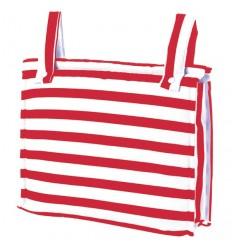Bolso Silla|Cochecito Plastificado Sailor Rojo