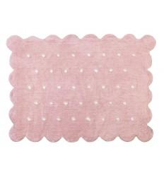 Alfombra Infantil 100% Algodón lavable en lavadora Colección Cookie Rosa 120x160 cms
