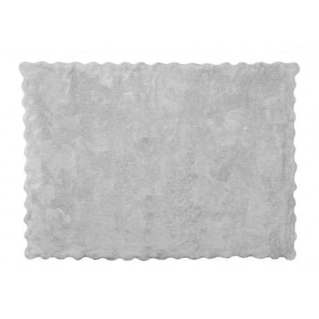 Alfombra Infantil 100% Algodón lavable en lavadora Colección Lisa Gris 120x160 cms