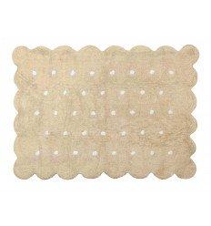 Alfombra Infantil 100% Algodón lavable en lavadora Colección Cookie Beige 120x160 cms