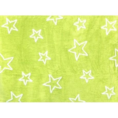 Alfombra Infantil 100% Algodón lavable en lavadora ColecciónEstrella pistacho 120x160 cms