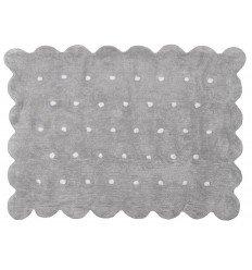 Alfombra Infantil 100% Algodón lavable en lavadora Colección Cookie Gris 120x160 cms