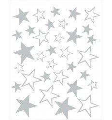Vinilos decorativos Estrellas Gris