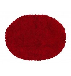 Alfombra Infantil 100% Algodón lavable en lavadora Colección Blonda Roja 120x160 cms