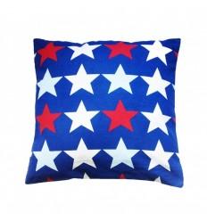 Funda de cojin infantil lavable. Estrellas Azul. 40x40 cms