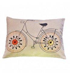 Funda de Funda de cojin infantil lavable. Diseño Bicicleta. 30x40 cms