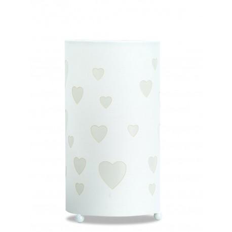 Lámpara de Mesa. Colección LOVE. Blanco