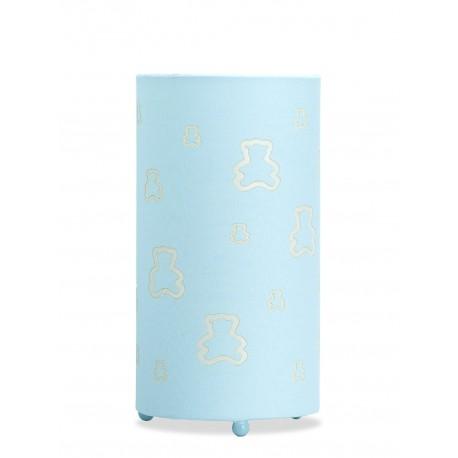 Lámpara de Mesa. Colección PADDINGTON. Celeste