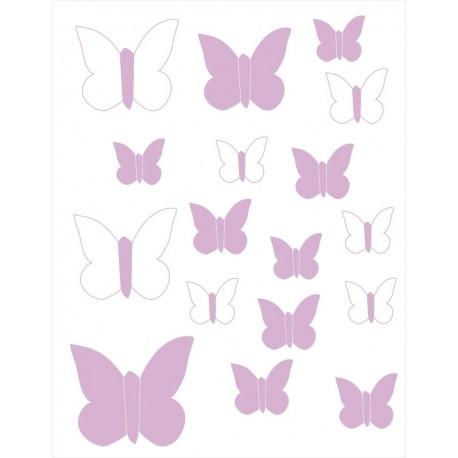 Vinilos decorativos Mariposas Lila