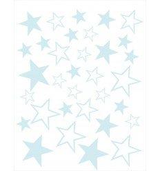 Vinilos decorativos Estrellas Celeste