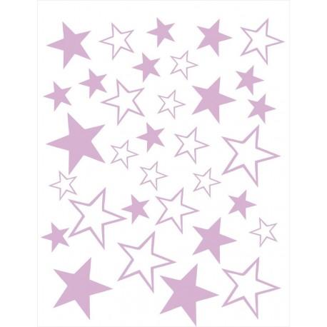 Vinilos decorativos Estrellas Lila
