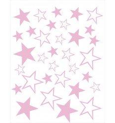 Vinilos decorativos Estrellas Rosa