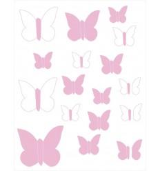 Vinilos decorativos Mariposas Rosa