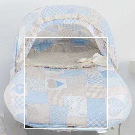 Saco Silla Grupo 0 Patchwork Azul