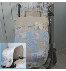 Saco Silla y Capota Varios Modelos Patchwork Azul