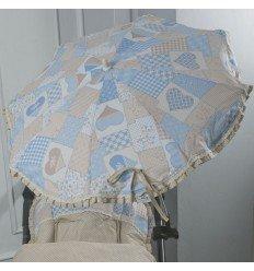 Sombrilla Patchwork Azul
