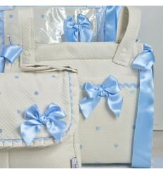 Bolso Panera Cuadrado Patricia Azul