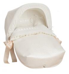 Saco Porta bebé Ribete Beige (capota no incluida)