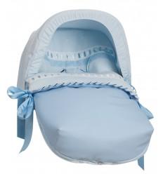 Saco Porta bebé Ribete Celeste (capota no incluida)