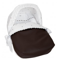 Saco Porta bebé Bodoques Blanco (capota no incluida)