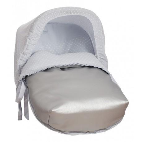 Saco Porta bebé Plumetti Gris (capota no incluida)