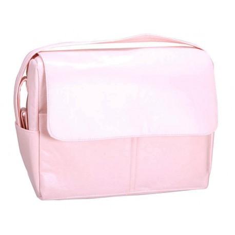 Bolso plastificado piqué rosa