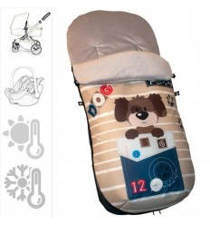 Saco Grupo 0 Polar Estampado Puppy
