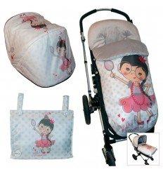 Opciones Conjunto Bugaboo Capota con saco o colcha Princess Girl