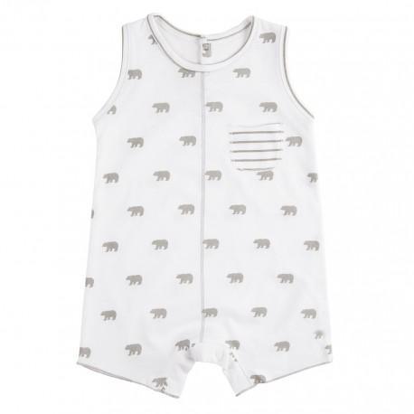 Pelele Corto (1 a 3 meses) Polar Blanco de BabyClic