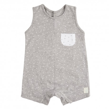 Pelele Corto (6 a 9 meses) Mini Stella Gris de BabyClic