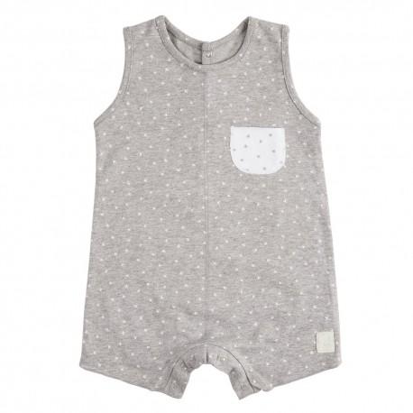 Pelele Corto (9 a 12 meses) Mini Stella Gris de BabyClic