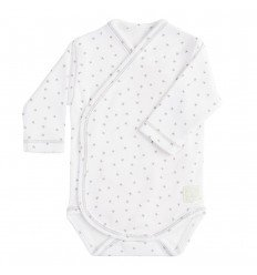 Body Cruzado Manga Larga New Born Mini Stella Blanco. de BabyClic
