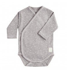 Body Cruzado Manga Larga New Born Mini Stella Gris de BabyClic