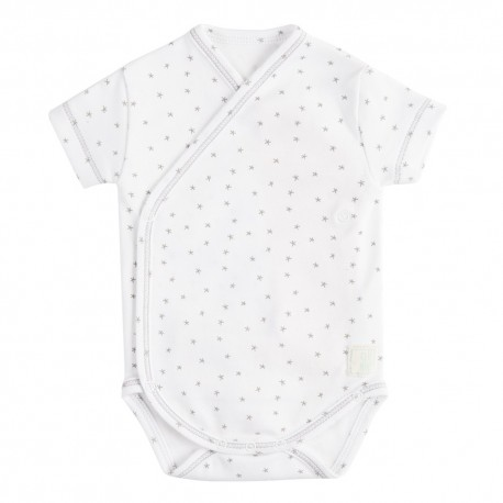 Body Cruzado Manga Corta New Born Mini Stella Blanco de BabyClic