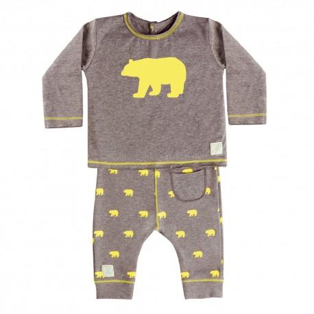 Camiseta y Pantalón (9 a 12 meses) Polar Limón de BabyClic
