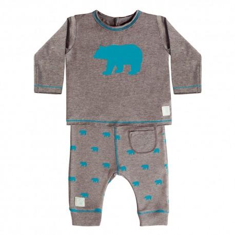 Camiseta y Pantalón (9 a 12 meses) Polar Petrol de BabyClic