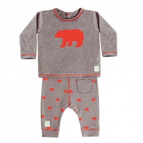Camiseta y Pantalón (3 a 6 meses) Polar Coral de BabyClic