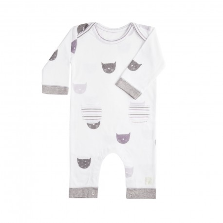 Pelele Largo (9 a 12 meses) Miau Malva de BabyClic
