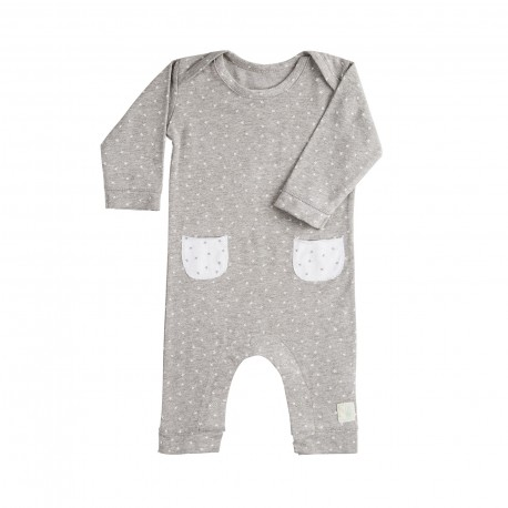 Pelele Largo (9 a 12 meses) Mini Stella Gris de BabyClic