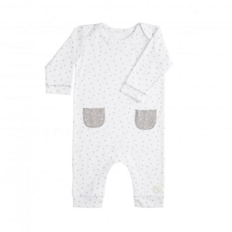 Pelele Largo (6 a 9 meses) Mini Stella Blanco de BabyClic