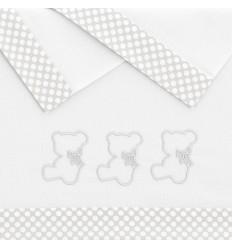 sábanas de bebés Nuite Blanco/Gris