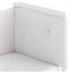 protectores de cuna para bebés Nuite Blanco/Gris
