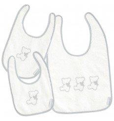 Set baberos para bebé Nuite Blanco/Gris