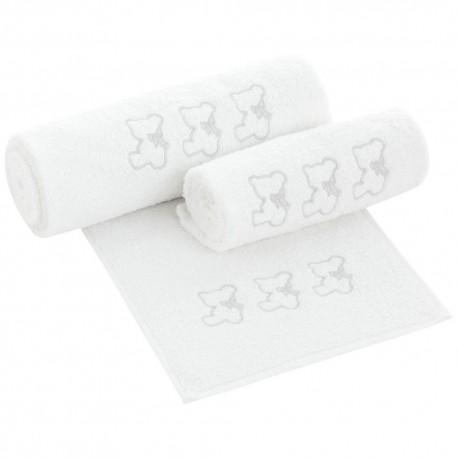 Set toallas de bebés Nuite Blanco/Gris