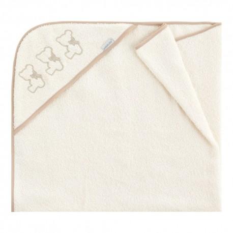 toallas de bebé con capucha Nuite Beige