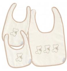 Set baberos bebés Nuite Beige