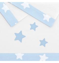 sábanas para bebés Nova Blanco-Azul