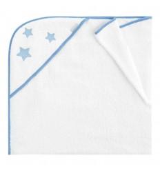 toallas de bebé con capucha Nova Blanco-Azul