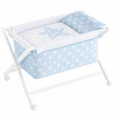 moises bebé minicuna Nova Blanco-Azul