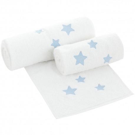 Set toallas de bebés Nova Blanco-Azul